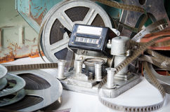 Old film reel cinematography Stock Images