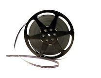 Old film reel, isolated Stock Image