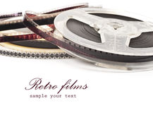 Old Film Reel isolated on a white background Stock Image