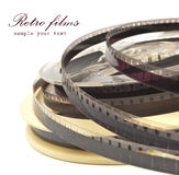 Old Film Reel isolated on a white background Stock Photography