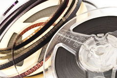 Old Film Reel isolated on a white background Royalty Free Stock Image