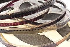Old Film Reel isolated on a white background Royalty Free Stock Images