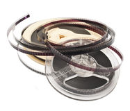 Old Film Reel  on a white background Royalty Free Stock Images