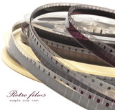 Old Film Reel  on a white background Stock Images
