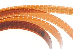 Film reels. Old film reels on a white background stock photography