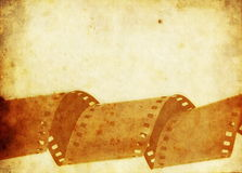 Old film roll background Royalty Free Stock Photography