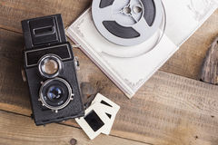 Old Film Roll Stock Photo