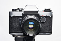 Old film SLR camera isolated Royalty Free Stock Image