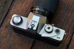 Old film SLR camera Stock Photos