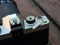 Old film SLR camera Royalty Free Stock Photo