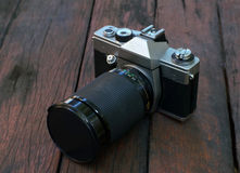 Old film SLR camera Stock Photography