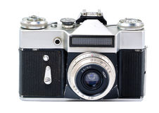 Old film SLR camera on white background Stock Image