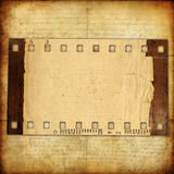 Old film strip. Vintage background- old film strip Stock Image