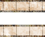 Old film strip. With some spots Royalty Free Stock Image