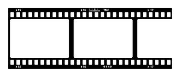 Old film strip. On white Royalty Free Stock Images