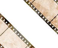 Old film strip. With some spots Royalty Free Stock Images