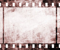 Old film strip. With some spots Stock Photo