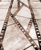Old film strip. With some spots Royalty Free Stock Photos