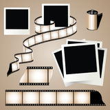 Old film strip. On background Stock Photography