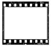 Old film strip. Illustration of old grunge film strip Stock Photos