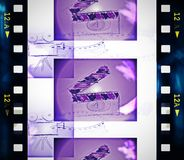 Old film strip Stock Photo
