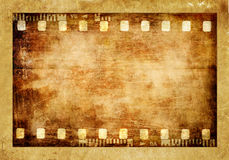 Old film strip. Vintage background- old film strip Royalty Free Stock Photography