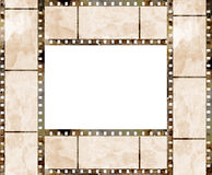 Old film strip frame. With some spots Royalty Free Stock Photos