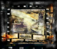 Film strip frame background. Old film strip frame background Royalty Free Stock Photo