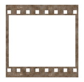 Old film strip frame isolated on white. Background Stock Photos