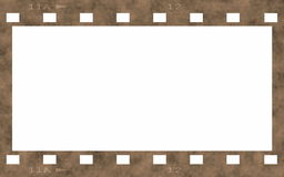 Old film strip frame isolated on white Royalty Free Stock Photography