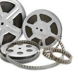 Old film strip Stock Images