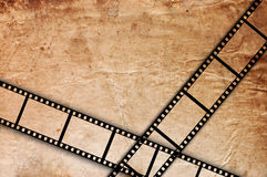 Old Film Strip On A Grunge Vintage Background Royalty Free Stock Photo