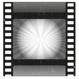 Old film strip. Old scratched film strip vector Royalty Free Stock Image