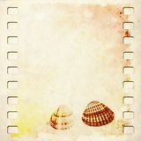 Old film strip sheet soiled paper background Royalty Free Stock Images
