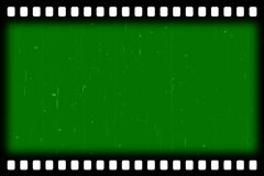 Old film stripes effect - green screen. You can put gigantic backgrounds according to their own beliefs and ideas Royalty Free Stock Image