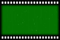 Old film stripes  effect - green screen. Old film stripes effect - green screen -you can put gigantic backgrounds according to their own beliefs and ideas Royalty Free Stock Photo