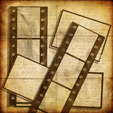 Old film strips. Vintage background- old film strips Stock Photo