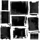 Old Film Strips. An illustration of different old film strips, isolated on white background Royalty Free Stock Photo