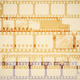 Old film strips. Retro background distressed film strips Stock Image
