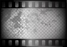 Old film on trasparent background Royalty Free Stock Photo