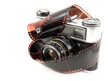 Old Films Camera with film Royalty Free Stock Images