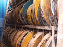 Old films. Old films in the storage Stock Photo