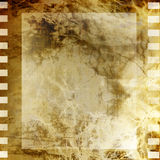 Old filmstrip. On grunge background Royalty Free Stock Photos