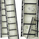 Old filmstrip. 35mm filmstrip. Detailed vector illustration Royalty Free Stock Image