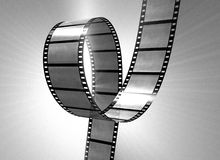 Old filmstrip. 3d rendered old filmstrip for vintage design Royalty Free Stock Photography