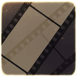Old Filmstrip Abstract Background. Vector. Illustration Stock Images