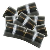 Old filmstrips. Pile of old filmstrips on a white background Stock Image