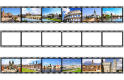 Old filmstrips. Isolated on white background Royalty Free Stock Photography