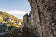 The old Filosofou monastery ruins near Dimitsana and Stemnitsa Royalty Free Stock Image