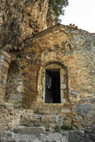 The old Filosofou monastery ruins near Dimitsana and Stemnitsa Royalty Free Stock Photography
